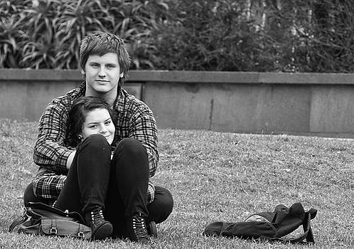Lovers in the Park by Paul Donohoe
