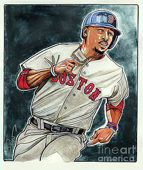 Mookie Betts by Dave Olsen