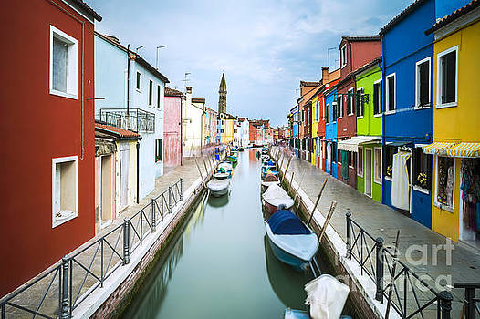 Multicolored houses in Venice by Deyan Georgiev