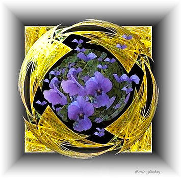 My Golden Violets by Carola Ann-Margret Forsberg