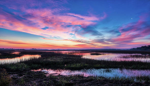 Oak Island Marsh Sunrise by Nick Noble