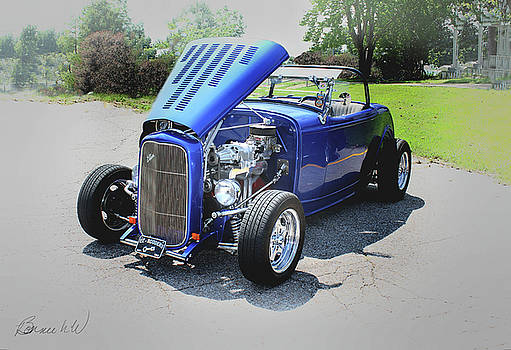 Old hot rod convertable by Bonnie Willis