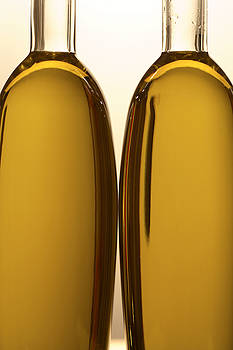 2 Olive Oil Bottles by Frank Tschakert