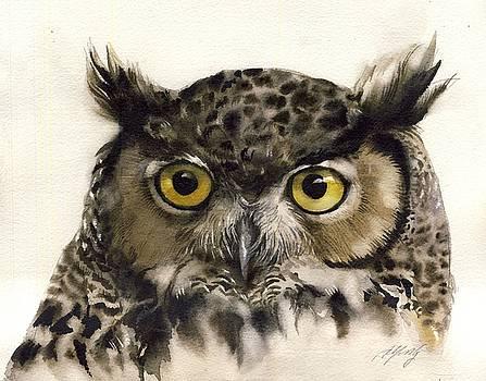 Alfred Ng - owl watercolor