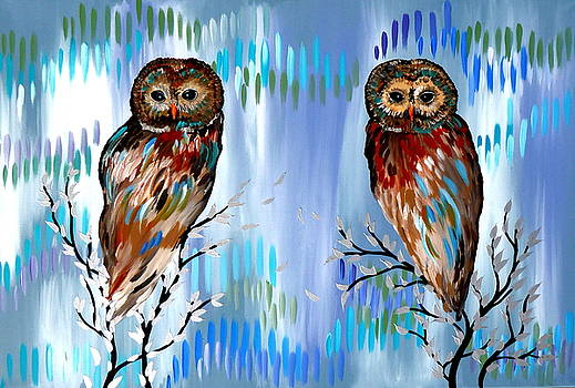 2 Owls by Cathy Jacobs