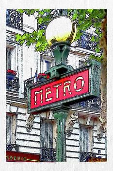 David Pringle - Paris Metro Sign