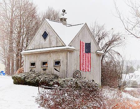 Patriotic Barn by Tricia Marchlik