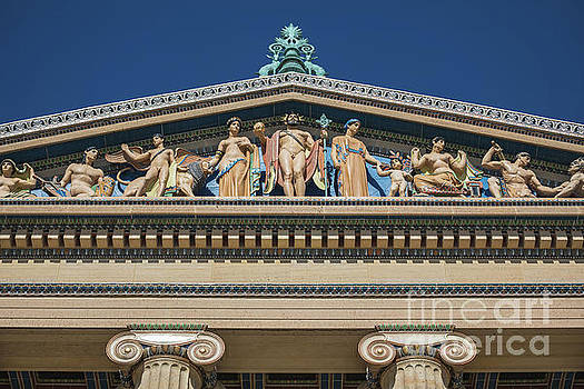 Pediment Detail at Philadelphia Museum of Art by Leslie Banks