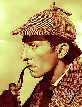 Peter Cushing as Sherlock Holmes by John Springfield