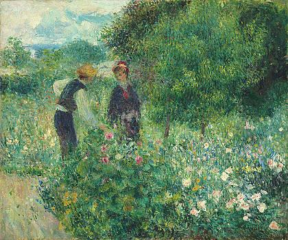 Picking Flowers by Auguste Renoir