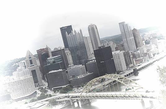 Pittsburgh Skyline From Mt Washington by Kenneth Krolikowski