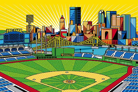 Ron Magnes - PNC Park gold sky