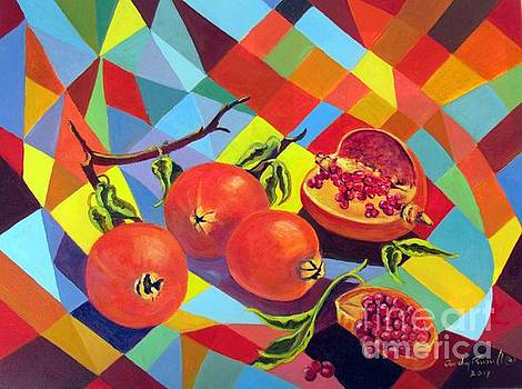 Pomegranates by Audrey Russill