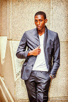Alexander Image - Portrait of African American Teenage Boy in New York