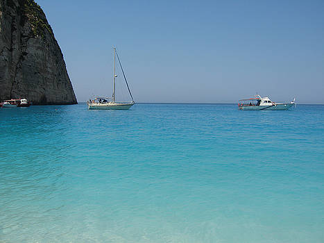 Newnow Photography By Vera Cepic - Private boats on Navagio beach on the island of Zakinthos shot f