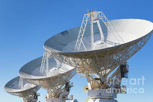 Radio telescope microwave parabolic dish antenna array by Carl Chapman