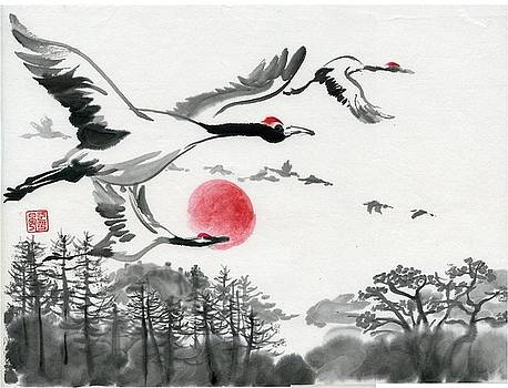 Red Crowned Crane by Ping Yan