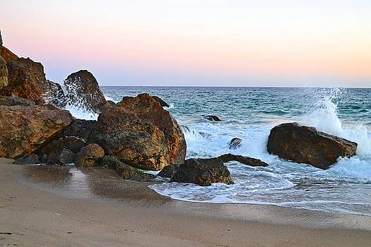 Rocks at Point Dume in Malibu by Tommi Trudeau
