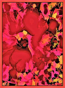 Rose Of Sharon In Abstract by Debra Lynch