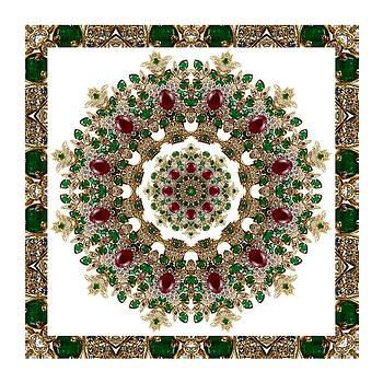 Ruby and Emerald Kaleidoscope by Charmaine Zoe