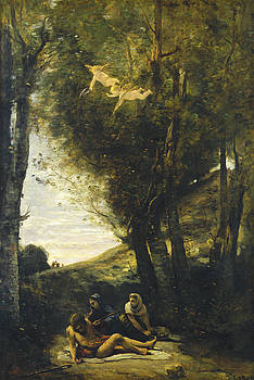 Saint Sebastian Succored By The Holy Women by Jean-Baptiste-Camille Corot