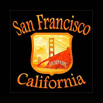 San Francisco California Golden Gate Design by Art America Gallery Peter Potter