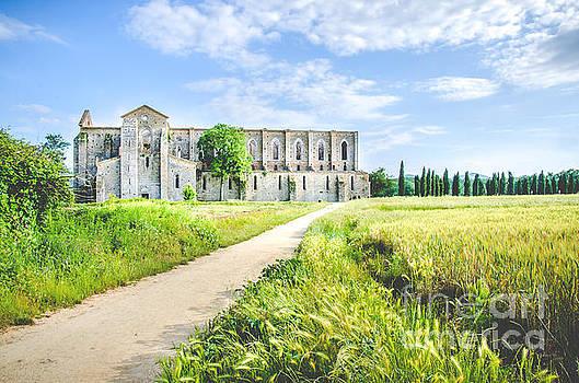 San Galgano Church ruins in Siena - Tuscany - Italy -  by Luca Lorenzelli