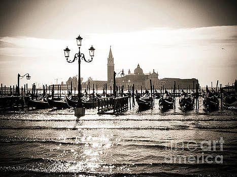 BERNARD JAUBERT - San Giorgio Maggiore island, Venice, Italy at dusk