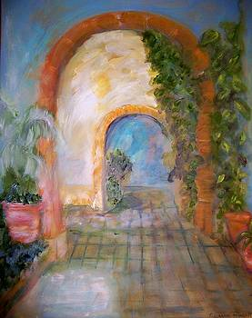 San Miquel Courtyard by Suzanne Reynolds