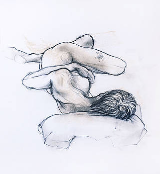 Sleeping female nude by Roz McQuillan