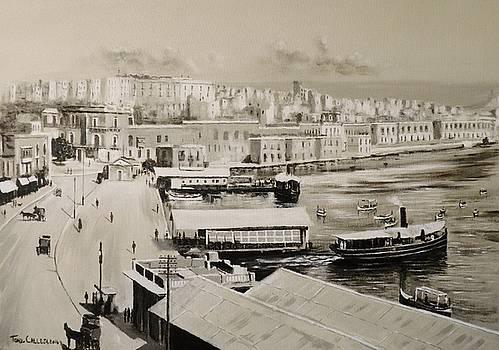 Sliema Ferries  1940 by Tony Calleja