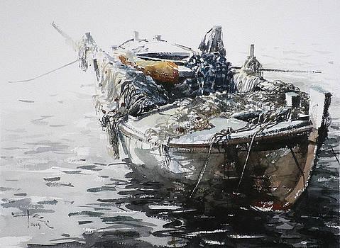 Small Fishing Boat 6 by Tony Belobrajdic