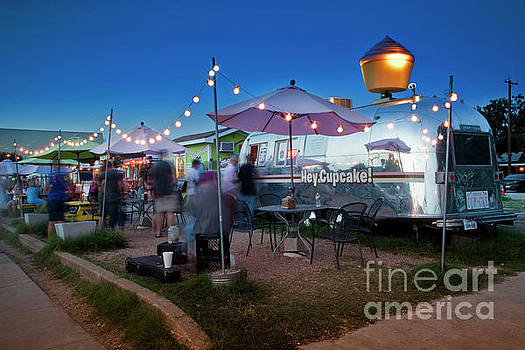 Herronstock Prints - South Congress is an iconic street and host to dozens of food trailers serving exotic cuisine to satisfy the soul