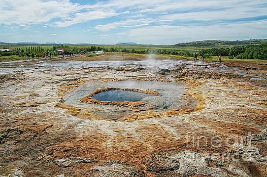 Strokkur geyser in Iceland  by Patricia Hofmeester