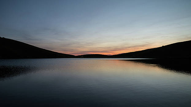 Stunning Summer sunrise landscape of colors reflected in Llyn Cw by Matthew Gibson