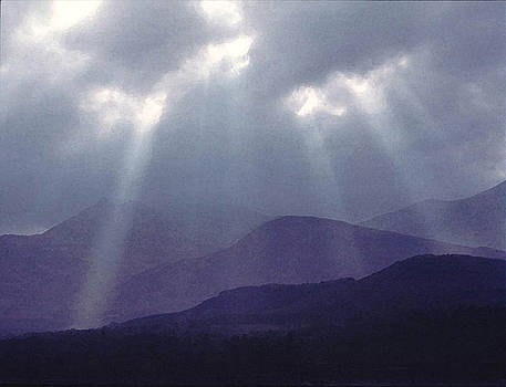 Sunbeams over Derwent by Julian Perry