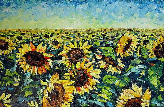 Sunflowers by Keren Gorzhaltsan