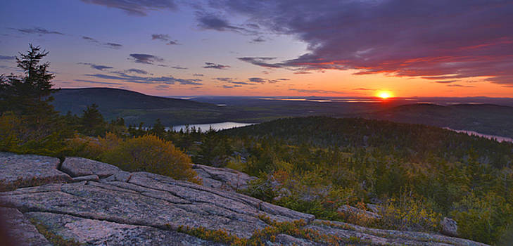 Sunset From Cadillac Mountain by Stephen  Vecchiotti
