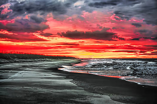 Sunrise on the Beach by Terry Shoemaker
