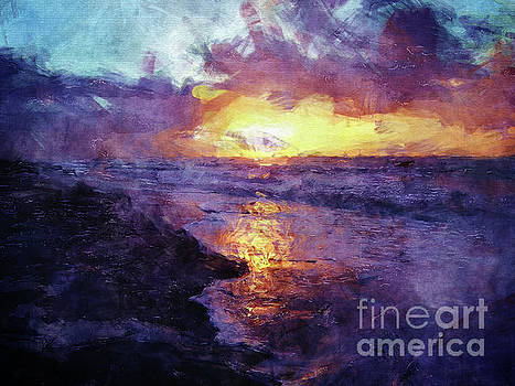 Sunrise Over Atlantic Ocean by Phil Perkins