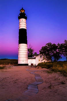 Susan Rissi Tregoning - Sunset at Big Sable Light