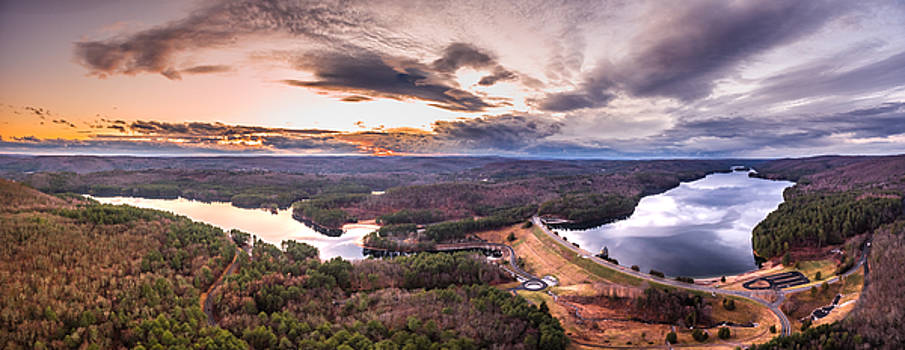 Sunset At Saville Dam - Barkhamsted Reservoir Connecticut by Petr Hejl