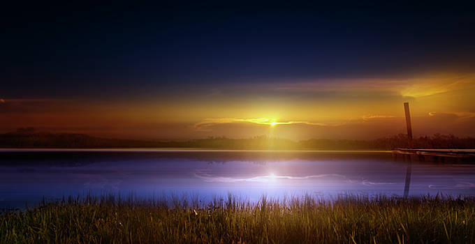 Sunset in the Glades by Mark Andrew Thomas