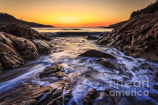 Sunset On Chanteiro Beach Galicia Spain by Pablo Avanzini