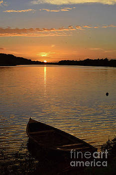 Joe Cashin - Sunset on the river Suir