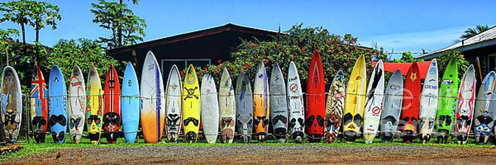 Surfboard Fence Maui Hawaii by Peter Dang