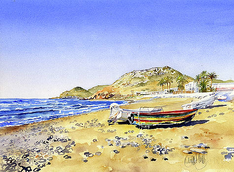 The Beach at Las Negras by Margaret Merry