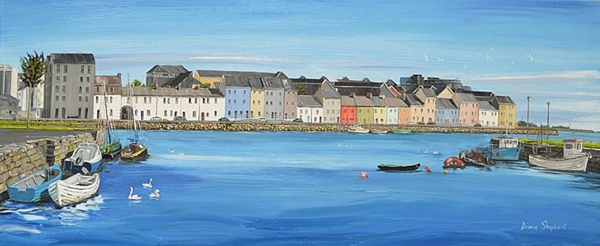 The Long Walk Galway Ireland by Diana Shephard