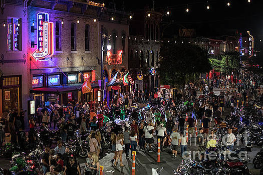 Herronstock Prints - The Republic of Texas Biker Rally fills up 6th Street with thous