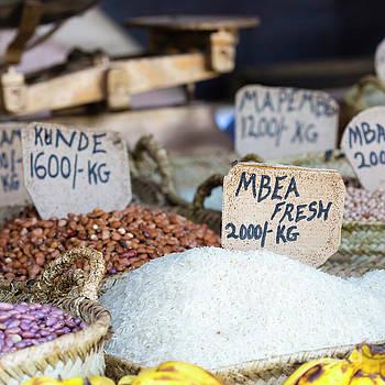 Traditional food market in Zanzibar, Africa. by Mariusz Prusaczyk
